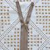 Молния металлическая, никель, 60см/5мм, коричневый