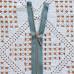 Молния металлическая, никель, 40см/5мм, серо-голубой