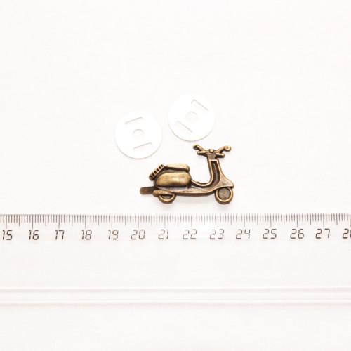 """Подвеска металлическая """"Мопед"""", 35 мм, бронза PM-009"""