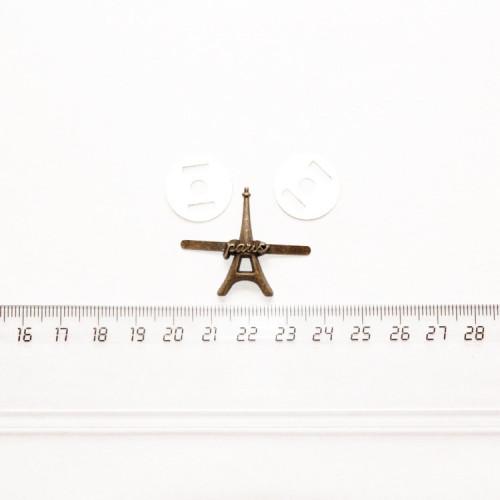 """Подвеска металлическая """"Эйфелева башня с усиками"""", 28 мм, PM-010"""