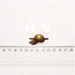 """Подвеска металлическая """"Кепка"""", 28 мм, бронза, PM-012"""