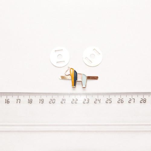 """Подвеска металлическая """"Лошадка цветная"""", 20 мм, эмаль, PM-013"""