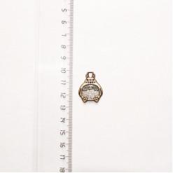 """Подвеска металлическая """"Сумка-заяц"""", 25 мм, бронза, PM-016"""