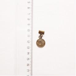 """Подвеска металлическая """"Медальон"""", 15 мм, бронза, PM-017"""