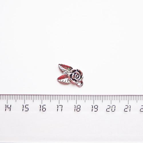 """Подвеска металлическая """"Розочка"""", 16мм, серебро, PM-019"""