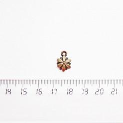 """Подвеска металлическая """"Цветочек"""", 12мм, бронза, PM-032"""