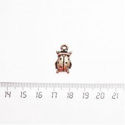 """Подвеска металлическая """"Божья коровка"""", 18мм, бронза, PM-034"""