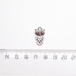 """Подвеска металлическая """"Совушка"""", 18мм, серебро, PM-035"""