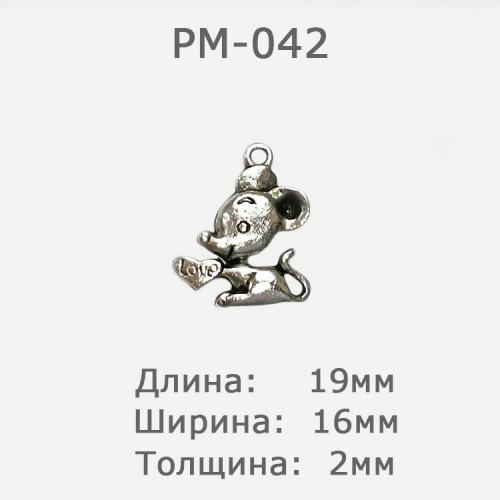 Подвеска металлическая декоративная, 19х16мм, PM-042