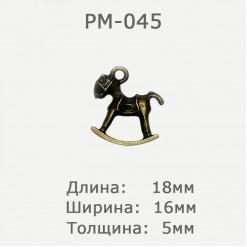 Подвеска металлическая декоративная, 18х16мм, PM-045