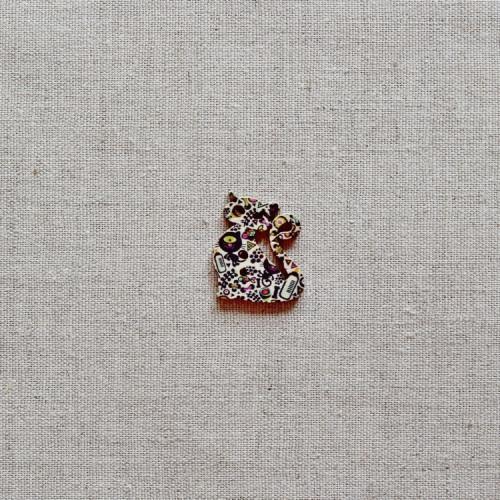 Пуговица деревянная (Кошка), 28мм, 1 шт, PGV-001-10
