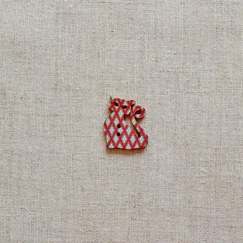 Пуговица деревянная (Кошка), 28мм, 1 шт, PGV-001-12