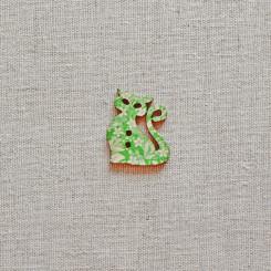 Пуговица деревянная (Кошка), 28мм, 1 шт, PGV-001-2