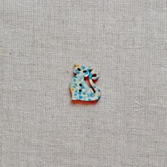 Пуговица деревянная (Кошка), 28мм, 1 шт, PGV-001-5