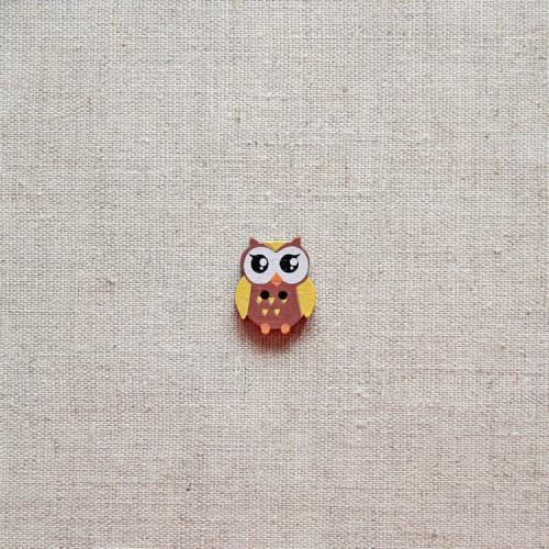 Пуговица деревянная (Совушка), 20мм, 1 шт, PGV-002-4