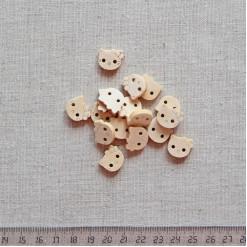 Пуговица деревянная, 14мм, PGV-003-12