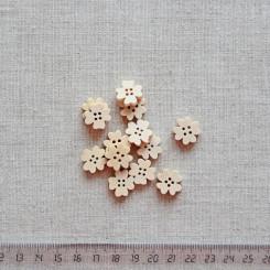 Пуговица деревянная, 15мм, PGV-003-14