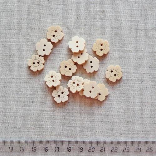 Пуговица деревянная, 15мм, PGV-003-15