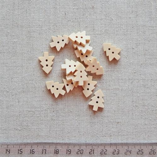 Пуговица деревянная, 18мм, PGV-003-17