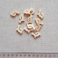 Пуговица деревянная, 20мм, PGV-003-18