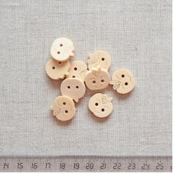 Пуговица деревянная, 18мм, PGV-003-3