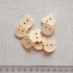 Пуговица деревянная, 20мм, PGV-003-4