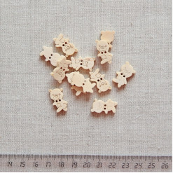 Пуговица деревянная, 20мм, PGV-003-7