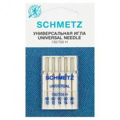 Иглы стандартные Schmetz, набор  5 шт., №80-90