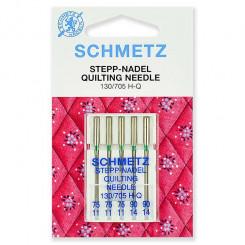 Иглы для квилтинга Schmetz, набор 5 шт., №75(3шт.), №90(2шт.)