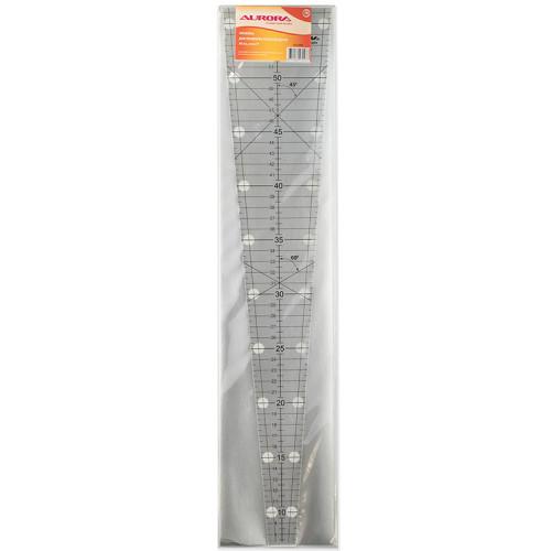 Линейка для пэчворка клиновидная с углом 9 градусов, 50см, AU-090
