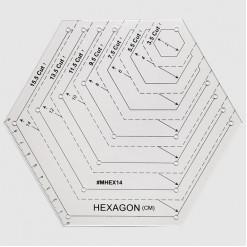 Линейка для пэчворка шестиугольник с углом 120°, 9х9см, LPG-120