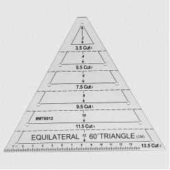 Линейка для пэчворка треугольник с углом 60°, 14х14х14см, LPT-60