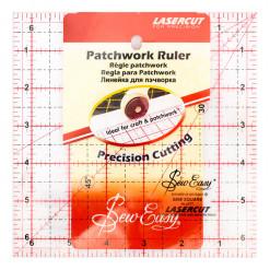 "Линейка для пэчворка квадрат 6 1/2"" дюймов, Sew Easy, NL4177"