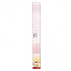 """Линейка раскройная c переводом размеров из сантиметров в дюймы, 61 см / 24"""" дюйма, Sew Easy, NL4187"""