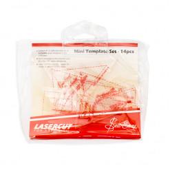 Набор лекал для вырезания заготовок для пэчворка, 14 дизайнов, Sew Easy, NL4154