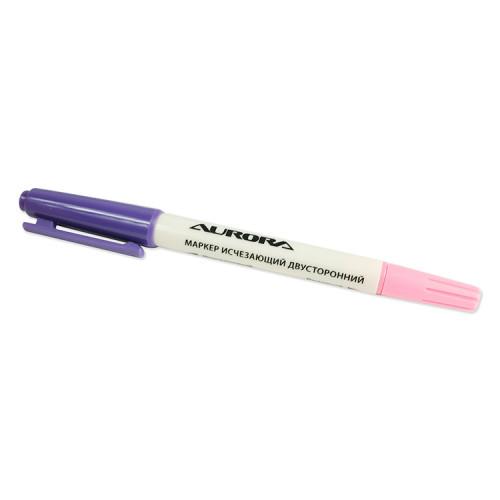 Маркер исчезающий двусторонний (розовый/фиолетовый), Aurora, AU-651