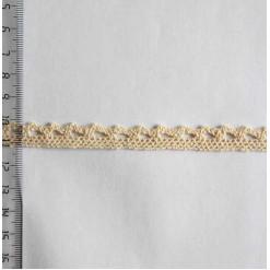Кружево хлопковое, вязаное, KH-0002, 10мм, цвет бежевый