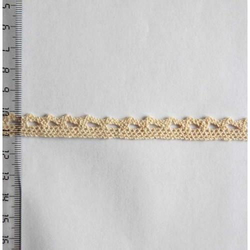 Кружево хлопковое, вязаное, 10мм, цвет белый, KH-0002