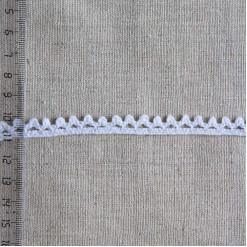 Кружево хлопковое, вязаное, KH-0003, 10мм, цвет белый