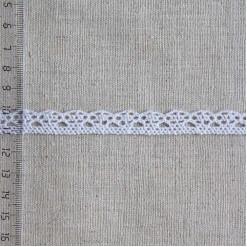 Кружево хлопковое, вязаное, KH-0005, 10мм, цвет белый