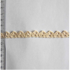 Кружево хлопковое, вязаное, KH-0010, 10мм, цвет бежевый