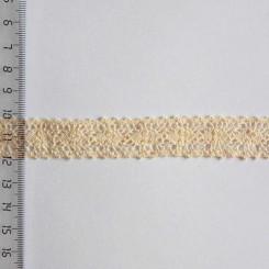 Кружево хлопковое, вязаное, KH-0012, 15мм, цвет бежевый