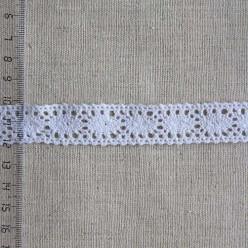 Кружево хлопковое, вязаное, 20мм, цвет белый, KH-0013