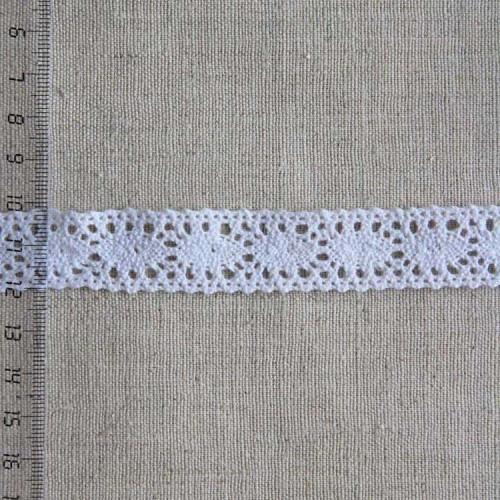 Кружево хлопковое, вязаное, KH-0013, 20мм, цвет белый