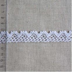 Кружево хлопковое, вязаное, KH-0015, 20мм, цвет белый