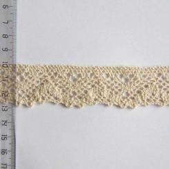 Кружево хлопковое, вязаное, KH-0026, 30мм, цвет бежевый
