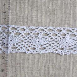 Кружево хлопковое, вязаное, KH-0031, 45мм, цвет белый