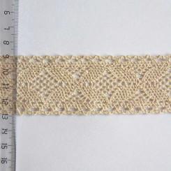 Кружево хлопковое, вязаное, KH-0034, 40мм, цвет бежевый