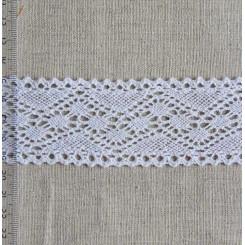 Кружево хлопковое, вязаное, KH-0035, 45мм, цвет белый