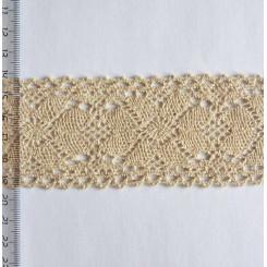 Кружево хлопковое, вязаное, KH-0040, 55мм, цвет бежевый